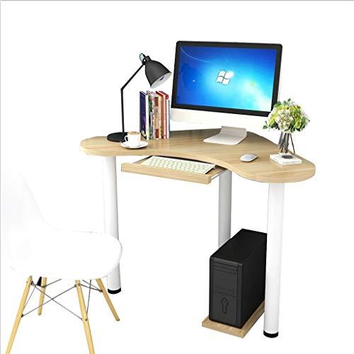 Ffshop Laptop-Tisch Kreativer Eckcomputertisch Einfacher Eckdreieck Einzeltisch Kleiner Laptop-Schreibtisch Gebogener Hauptschreibtisch Einstellbarer Computertisch