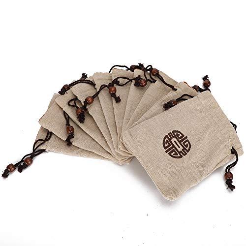 10 pcs Bijoux Sac De Rangement Antipoussière Cordon Sacs D'emballage pour Bracelet Rouge À Lèvres Cosmétiques Unisexe Voyage Trousse De Toilette