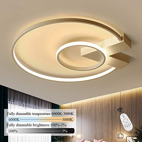LED Deckenleuchte I CBJKTX Deckenlampe 50cm 40W dimmbar mit Fernbedienung Weiße Wohnzimmerlampe Eisen Kronleuchte Kinderzimmer Lampe Esszimmerlampe Schlafzimmerlampe Badezimmerlampe Flurlampe