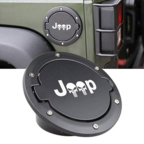 L&U Tankdeckel Tankdeckel für Jeep Wrangler JK & Unlimited 4-türig 2-türig 2007-2017,Jeep