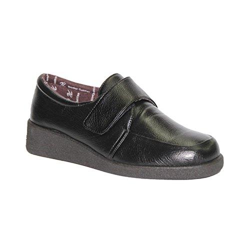 Zapato Velcro pies Muy Delicado Doctor Cutillas en Negro
