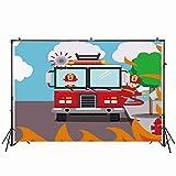 Foto de Nivius de 7 x 5 pies, Fondo de fotografía de camión, Bombero, Fiesta de Primer cumpleaños, Fiesta de Bombero, invitación, Fondo de Fotos, Decoraciones, Carteles de Fotos, Accesorios W-2082