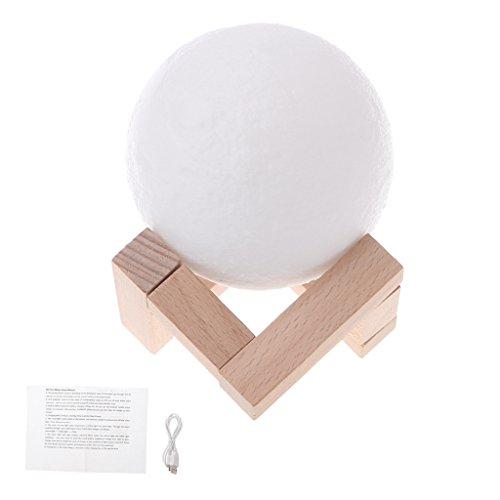 YOKING LED mágico 3D, lámpara de luna, lámpara de escritorio, carga USB, control táctil, decoración interior