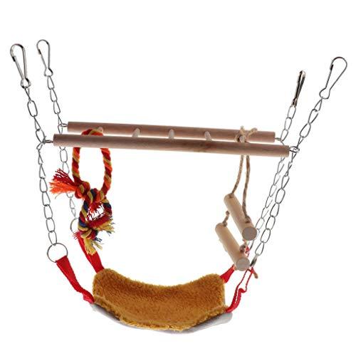 MERIGLARE Juguete de La Jaula del Loro, Escalera del Pájaro, Juguete del Columpio del Pájaro, Pequeño