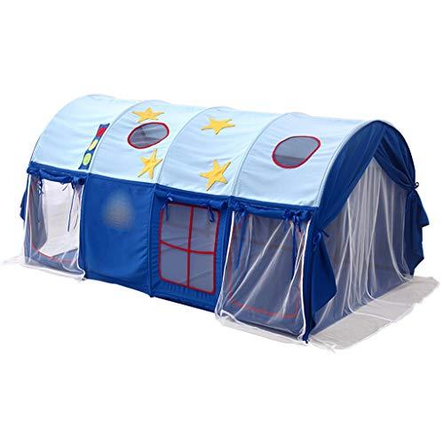 Tiendas de Niños Tienda De Camas Azules, Niños Y Niñas En Interiores Play Tent Tunnel, Espacio Privado For Niños, Fácil De Instalar Fiber Bracket & Oxford Paño, 190x100x90cm (Color : Style 2)