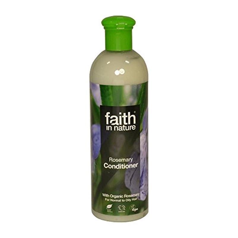 奇跡的なオートマトンレーザFaith in Nature Rosemary Conditioner 400ml (Pack of 6) - 自然ローズマリーコンディショナー400ミリリットルの信仰 (x6) [並行輸入品]