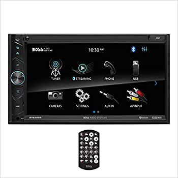 BOSS Audio Systems BV9395B Car Multimedia Receiver - Double Din A-Link  Screen Mirroring  Bluetooth Audio and Hands-Free Calling 6.95 Inch Touchscreen USB SD No CD DVD Aux AV in AM/FM Radio