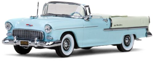 Vitesse 36295 - verzamelaarsmodel Chevrolet Bel Air 1955 Cabrio open, lichtblauw, 1:43