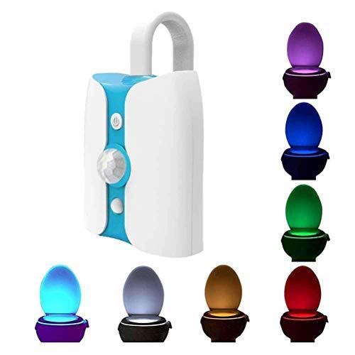 Ti-Fa Nachtlicht Toilettensitzlicht LED-Sterilisation Ultraviolettes Antivirus-Bewegungssensor aktiviert LED-Toilettenlicht Batterie 8 Farben Badezimmer