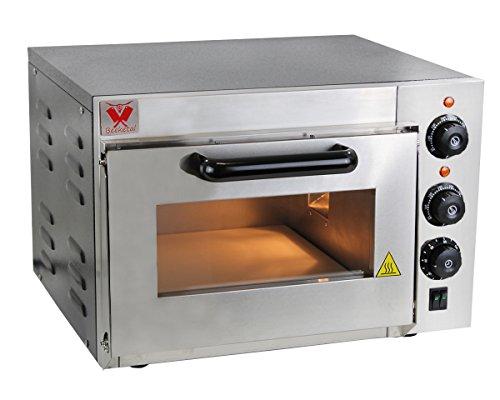 Beeketal 'BPO35-1' Profi Pizzaofen mit 355x340 mm Schamottstein Backfläche und extra hoher Kammer, Gastro Steinbackofen für Pizza, Brot und Backwaren, Pizzabackofen Temperatur bis zu 350°C
