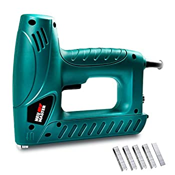 Electric Brad Nailer NEU MASTER Staple Gun N6013 with Contact Safety and Power Adjustable Knob for Upholstery and Home Improvement Includes 336pcs Staples and 200pcs Nails