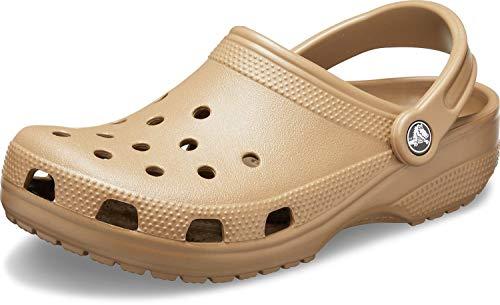 Crocs Men's and Women's Classic Clog, Khaki, 6 Women/4 Men