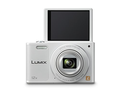 Panasonic LUMIX DMC-SZ10EG-W Style-Kompakt Digitalkamera (12x opt. Zoom, 2,7 Zoll LCD-Display um 180° schwenkbar,WiFi, HD-Videos, Bildstabilisator) weiß