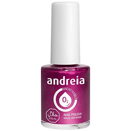 Andreia Halal Atmungsaktiver Nagellack - Wasserdurchlässig - B11 Rosa - Rottöne | 10.5 ml