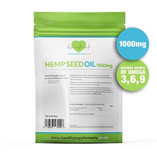 Healthy Supplements Hemp Seed Oil 1000mg 100 Caps