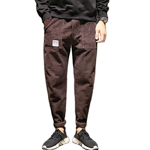 Pantalones cónicos de Gran tamaño para Hombre, Moda, Color sólido, cómodo, Tendencia, Ropa de Calle, Pantalones básicos relajados, otoño e Invierno 36