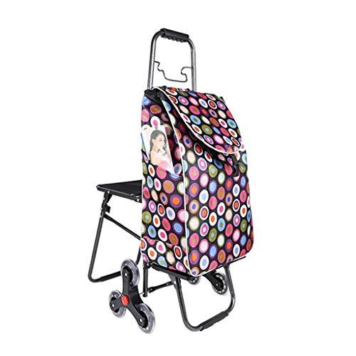 Einkaufstrolleys Einkaufswagen Treppensteigen Haushaltswagen Klappwagen Seniorenwagen Gepäckwagen Anhänger Lebensmittelgeschäft Einkaufswagen Lager 30KG (Color : Pink, Size : 94 * 32cm)
