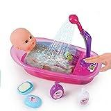 Boern Baby Spielzeug  Interaktive Puppen Badewanne mit funktionierender Dusche, inkl. Baby Badepuppe...