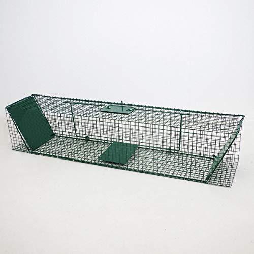 Corbeille métallique cas 120 cm Cage Piège Piège à rat Double Entrées cas cas des animaux vivants