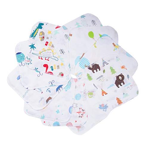 ガーゼハンカチ ガーゼ 赤ちゃん 4層 ベビー ミニハンカチ ガーゼ 20*20㎝ 綿100% 10枚