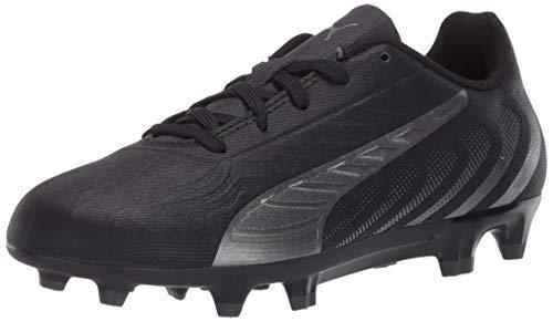 PUMA Kids One 20.4 Firm/Artificial Ground Soccer Shoe, Black-Asphalt, 5.5 M US Big Kid