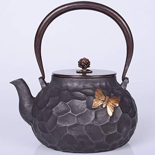 M-CH Tetera Tetera Tetsubin Caldera de té de Hierro Fundido de la Caldera de Hierro sin revestir Pot de té de Japón meridional 1200ML