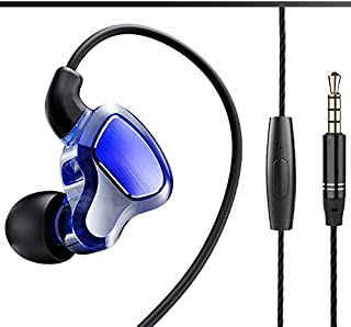 Xflelectronic Double-Motion Ring in-Ear Earphone, HiFi High Sound Quality Earbuds with Wheat Line Control Noise Isolating ... photo