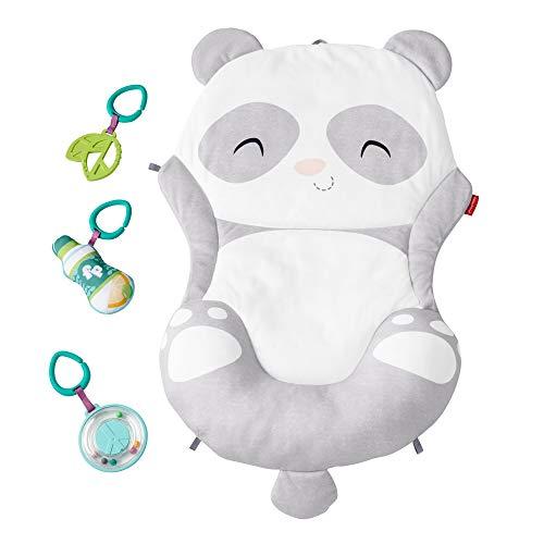 Fisher-Price GJD28 Panda speelmat, pluche mat om te spelen in de buikligging, met speelgoed, babyuitrusting vanaf de geboorte