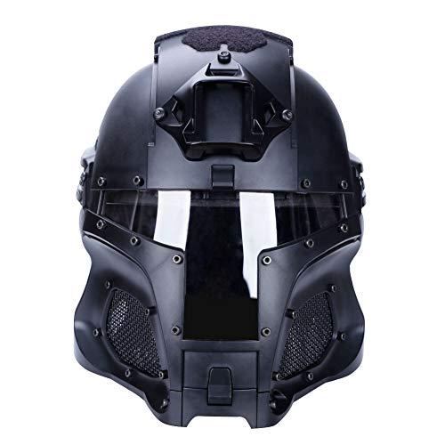 Gocher Tactical Military Helm voor Airsoft Paintball met PC Lens Full-Covered Helm Accessoires Helm voor CS War-Game Shooting