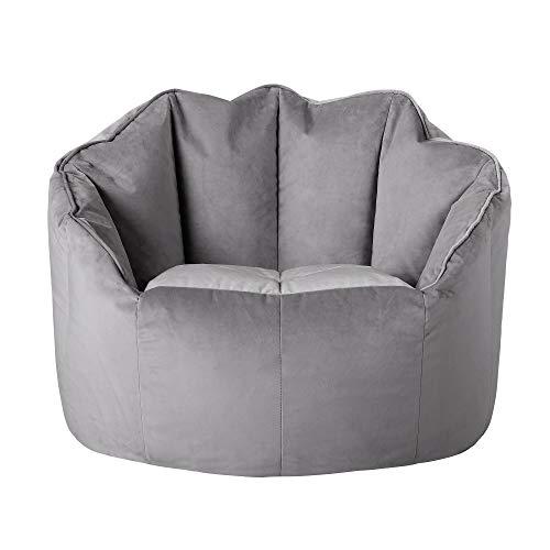 Icon Butaca puf de Terciopelo Sirena, Grande, sillas para Sala de Estar, pufs para Adultos, Puffs Pera
