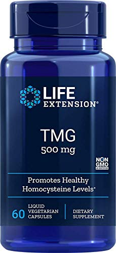 TMG Trimethylglycine 500mg (30 LVCAPS) Life Extension