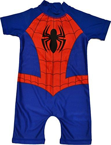 Boys Spiderman All in One Swimui...