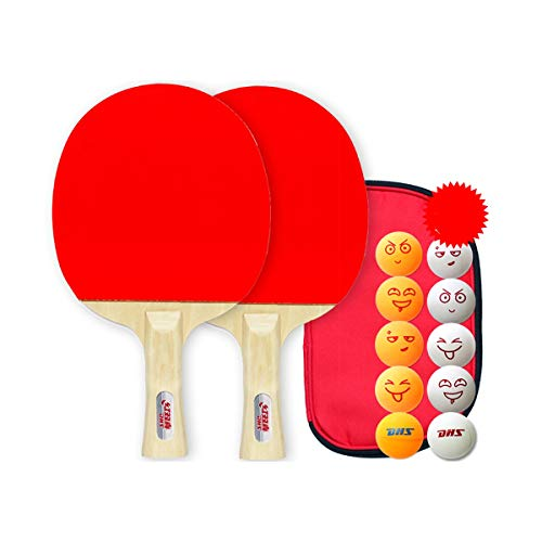 Read About YINJIESHANGMAO Table Tennis Racket, 1 2 Packs, Horizontal Straight Shot, Double Shot, (Si...