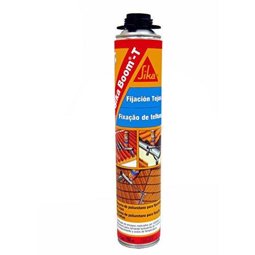 Sika Boom T, Espuma de poliuretano listo para su empleo para pegado de tejas, 750ml, Rojo