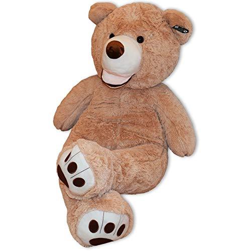 TE-Trend XXL Teddybär Big Teddy Bear Riesen Kuscheltier Plüschbär 130 cm Riesen Teddybär Plüsch Bär Hellbraun Braun