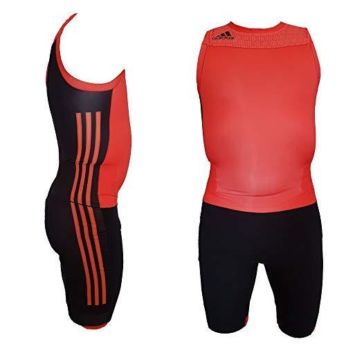 Adidas Prestaties 16 S M Suit lichte atletiek Weightlifting eendelig pak overall heren rood-zwart