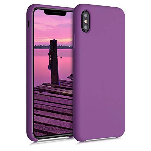 kwmobile Cover Compatibile con Apple iPhone XS Max - Cover Custodia in Silicone TPU - Back Case Protezione Cellulare Lilla Pastello