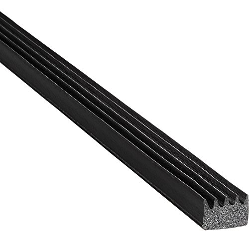 """TRIM-LOK - X103HT-25 Trim-Lok Ribbed Rectangle Rubber Seal – .375"""" Height, .625"""" Width, 25' Length – EPDM Foam Rubber Seal with High Tack (HT) – Ideal Door and Window Weather Seal – Garage Doors, Cars, Boats"""