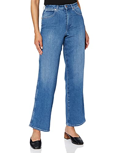 Wrangler Mom Relaxed Jeans Boyfriend, Blu (Dance with Me 187), 29W x 30L Donna