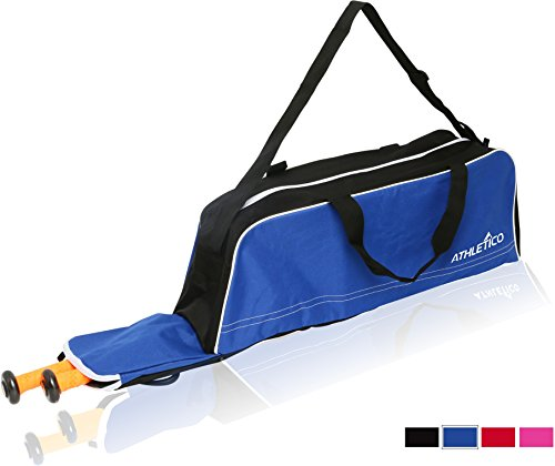 Athletico Baseball Tote Bag - Tote Bag for Baseball, T-Ball & Softball Equipment & Gear for Kids, Youth, and Adults | Holds Bat, Helmet, Glove, Shoes | Fence Hook (Blue)