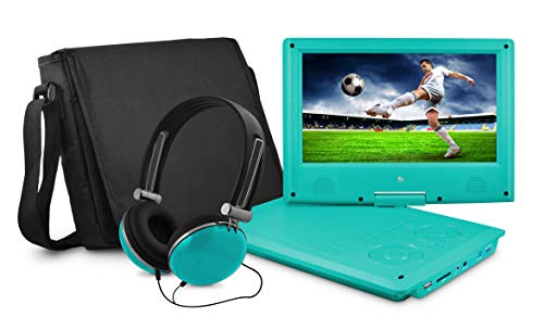 Ematic 9' Portable DVD Player with Matching Headphones and Bag - EPD909tl