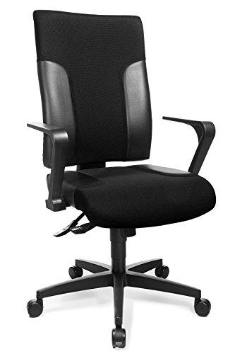 Topstar tf20rs100 Chaise de Bureau avec accoudoirs Fixes Two 20 Europe R2, Housse en Tissu