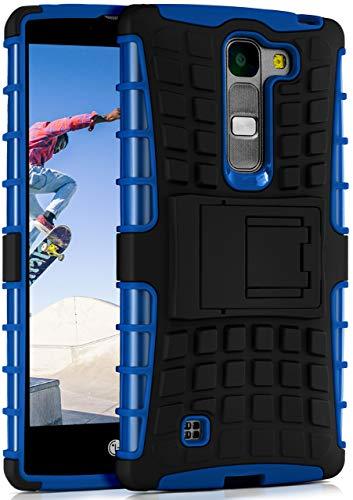 ONEFLOW Tank Hülle kompatibel mit LG G4c / LG Magna - Hülle Outdoor stoßfest, Handyhülle mit Ständer, Kamera- & Displayschutz, Handy Hardcase Panzerhülle, Horizon - Blau