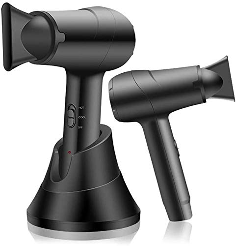 ZNXY Secador de Pelo inalámbrico Inteligente, portátil y Profesional, secador de Pelo inalámbrico para peluquería, barbería, Herramientas de salón, secador de Pelo frío y Caliente