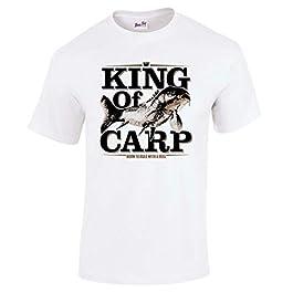 Tshirt Poisson pour Hommes Vêtement De Pêche King of Carp Cadeaux pour pêcheur