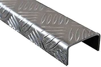1500mm Aluminium U-Profil 20x40x20mm Kantenprofil aus 1,5mm Aluminium silber natur eloxiert Abdeckprofil