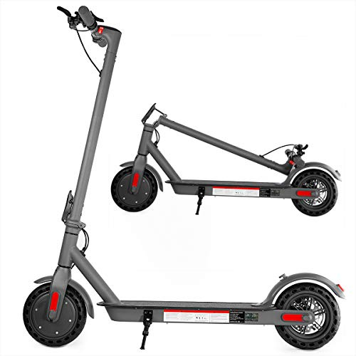XPRIT Electric Scooter, Up to 15 Miles Range, 2 Gear Speed Mode (Grey, 8.5''Wheel)
