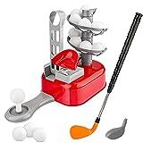 Baztoy Mini Golf, Sets de Golf avec 15 Balles 2 Têtes de Club Golf Jeu Exterieur Interieur Enfant Sport Golf Matériels Jouet Plein Air Jardin Golf Entraînement Cadeau Anniversaire Garçons Filles Ados