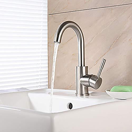 LG Snow Moderne Silber Waschbecken Wasserhahn Wasserfall Gebürstet EIN Griff EIN Hotel Wasserhahn