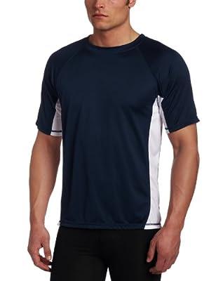 Kanu Surf Men's CB Rashguard UPF 50+ Swim Shirt (Regular & Extended Sizes), Navy, Large